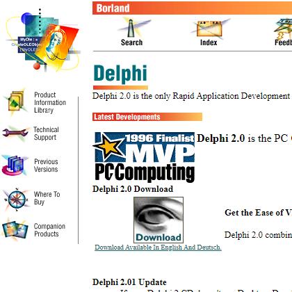 Delphi 2 – Website
